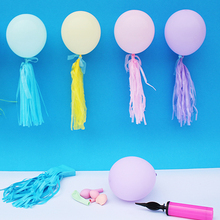 5pcs/pack Tassel Tissue Paper Tail Tassels for Pastel Macaron Balloon Party Wall Hanging Decoration