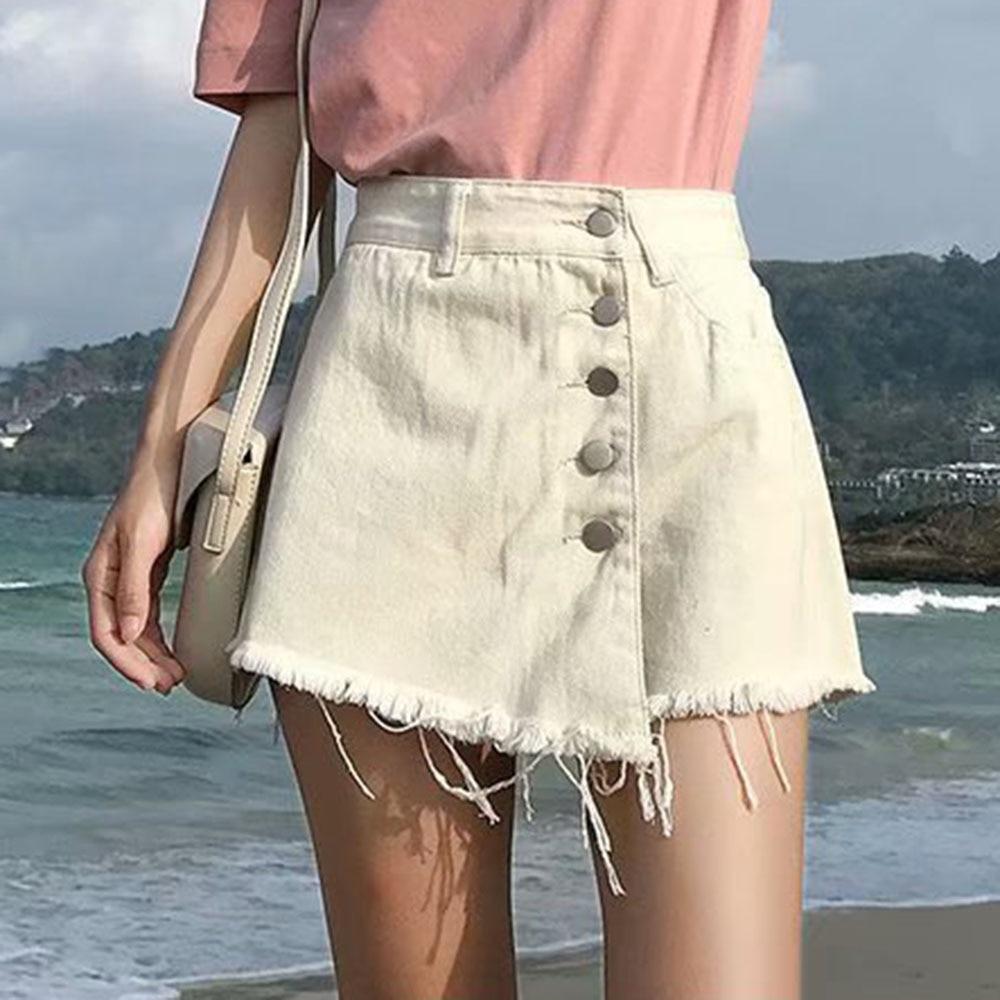 Fashion Summer Women Denim Shorts Sexy High Waist Shorts Skirts Casual Shorts Jeans Feminino Wide Leg Short Denim Trousers Mujer