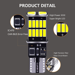 Image 3 - Wholesale 100PCS T10 W5W Canbus 26SMD Car LED  4014 194 168 W5W 2.5W 0.2A Non polar Auto Wedge Tail Side Bulb reading plate lamp