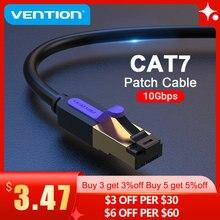 Vention kabel Ethernet RJ 45 Cat7 przewód Lan STP kabel sieciowy RJ45 do kompatybilnego z Cat6 kabla Patch do routera kabel Ethernet Cat7