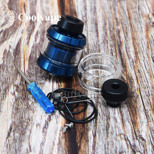 coolvape GEAR 24MM RTA Vape Tank 3.5ml 24mm Top Dual Bottom Adjustable Airflow filling e-cigarettes Atomizer vs LA Dripper RDA