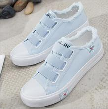 YeddaMavis Casual Shoes Blue Canvas Women Sneakers New Korean Wild Pink Womens Woman Trainers Lazy