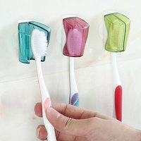 Ventosa escova de dentes capa poeira plástico família 3 pacote abertura fechamento titular escova de dentes viagem cabeça capa|null| |  -