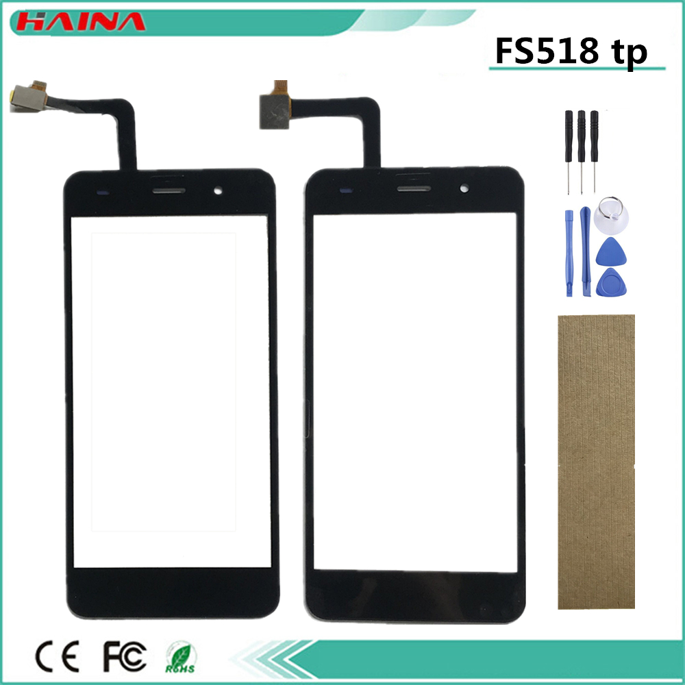 For Fly Cirrus 13 FS 518 FS518 Touch Screen Digitizer Touch Panel Lens Glass Replacement Part Black Color +Tape Tools