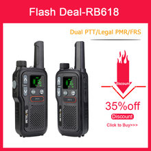 Retevis RB618 Mini Walkie Talkie Rechargeable Walkie-Talkies 1 or 2 pcs PTT PMR446 Long Range Portable Two Way Radio For Hunting