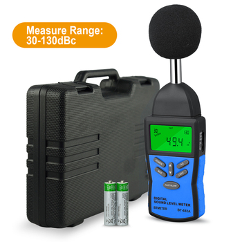 Digital Sound Level Meter,Noise Volume Measuring Instrument Decibel Monitoring Tester with 30-130dB Noise Audio Volume Test mastfuyi fy826 decibel meter noise measuring instrument db meter sound level meter max min mode with lcd backlight