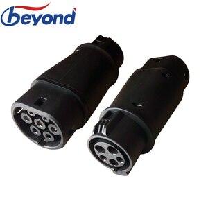 Зарядное устройство DUOSIDA EV type 1 to type 2 EV адаптер 32A EVSE SAE J1772 к IEC 62196-2 разъем для зарядки электромобиля автомобиля
