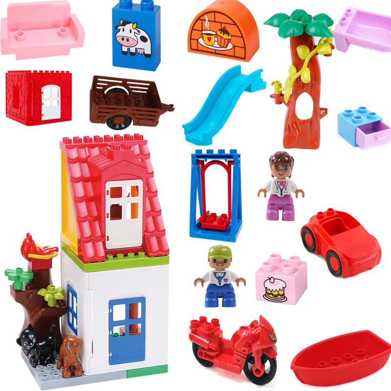 Конструктор duploed «второй этаж», Детский конструктор, развивающие игрушки с деталями Duploe, подарок