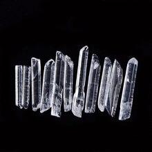 Cristal Natural sin procesar, varita de cristal de cuarzo curativa, punto de cristal, Roca, espécimen Mineral, piedra energética, 20g, 50g