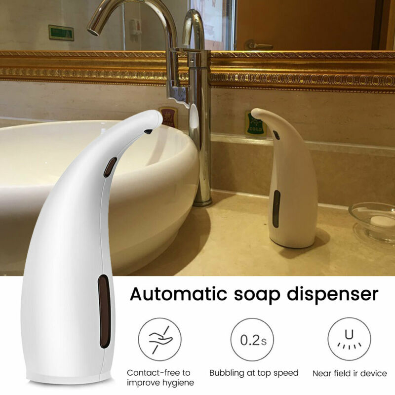 300ml ABS White Automatic Soap Dispenser Infrared Touch Less Liquid Hand Washer