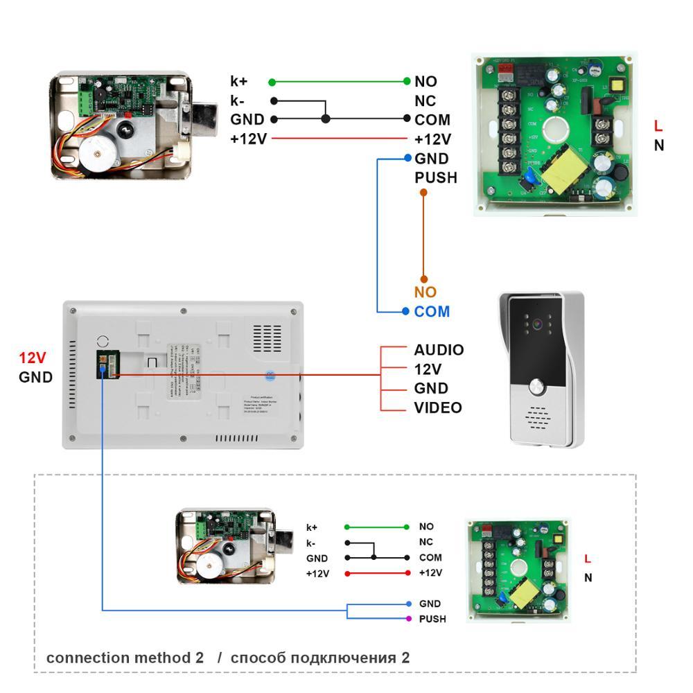 Homefong Door-Phone Lock Video-Intercom Access-Control-System Apartment Electric-Lock