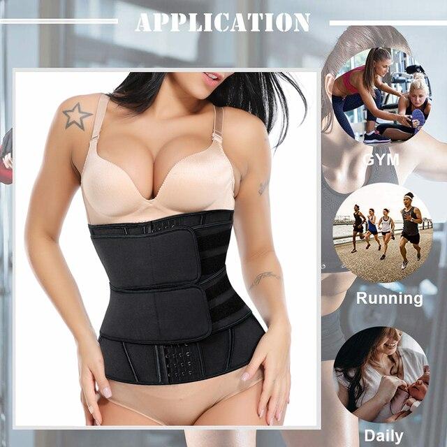 Women Neoprene Sweat Waist Trainer Corset Trimmer Belt for Women Weight Loss Waist Cincher Shaper Slimming Belt Shapwear 5