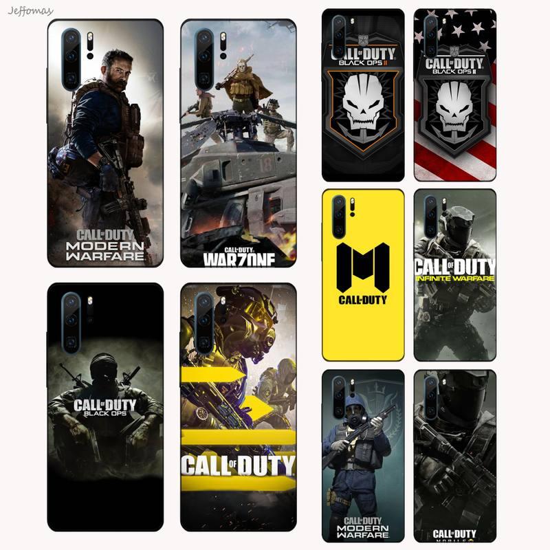 Чехол для телефона из игры «call of duty», черный корпус для Huawei P9 P10 P20 P30 Pro Lite smart Mate 10 Lite 20 Y5 Y6 Y7 2018 2019