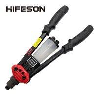 Hifeson arma de rebite cego manual mão dupla 801/804/806 pregos rebites rebitador ferramenta de rebitagem para 2.4 3.2 4.0 4.8 6.4mm
