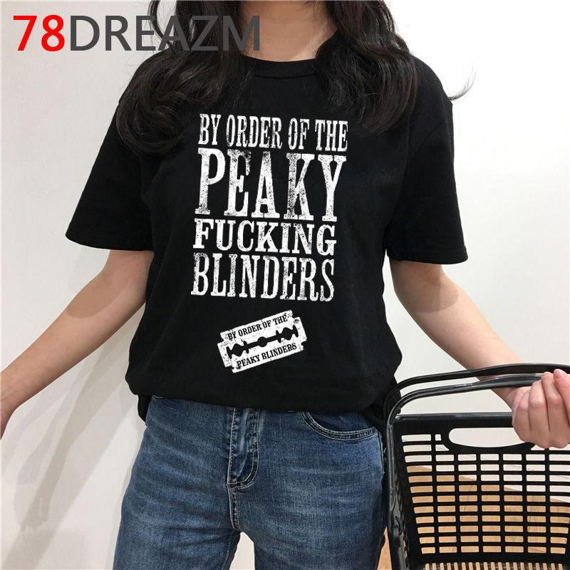 Peaky Blinders T Shirt Men Summer Top Funny Cartoon T-shirt Kawaii Harajuku Graphic Tees Oversized Unisex Plus Size Tshirt Male