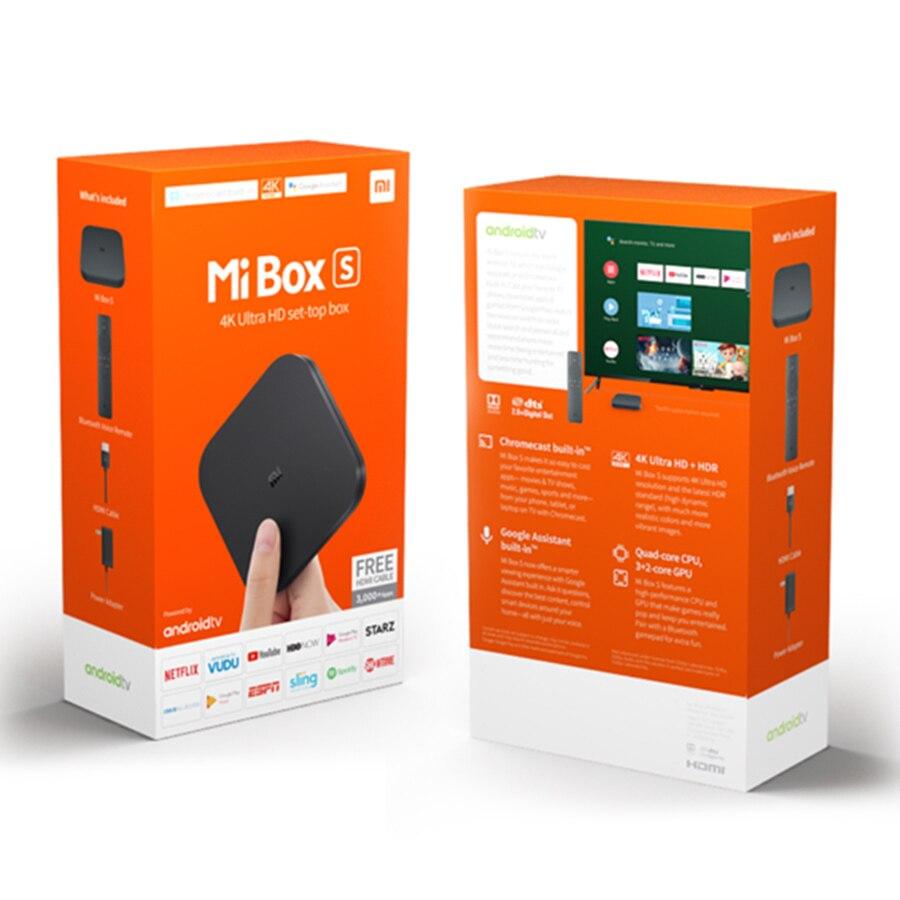 Original Global Xiao mi boîte S 4K HDR Android TV 8.1 mi boîtes 2G 8G WIFI Google Cast Netflix IPTV décodeur mi Box 4 lecteur multimédia - 5