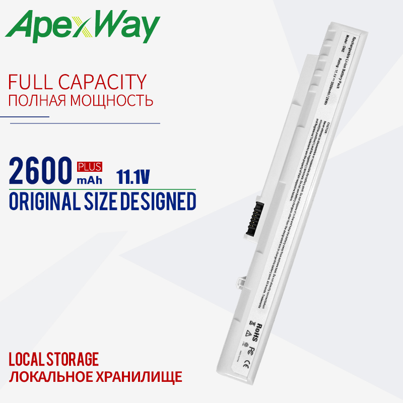 <font><b>2200mAh</b></font> WHITE <font><b>BATTERY</b></font> for Acer UM08B52 UM08B71 UM08B72 UM08B73 UM08B74 for Gateway UM08A73 Aspire One A110 A150 D150 D250 image