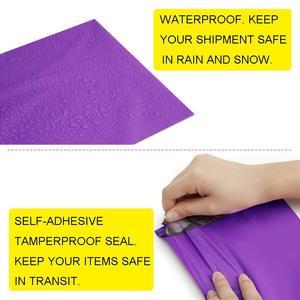 Image 3 - 100 個 9x12 インチ 23 × 30.5 センチメートル紫ポリメーラー無料バッグブティッククチュール封筒