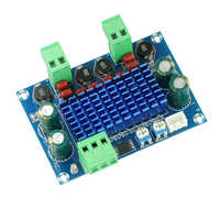 High Power Digital HIFI Power Amplifier Board 2*120W XH-M572 TPA3116D2 Chassis Dedicated Plug-in Input 5V 24V 28V output 120W