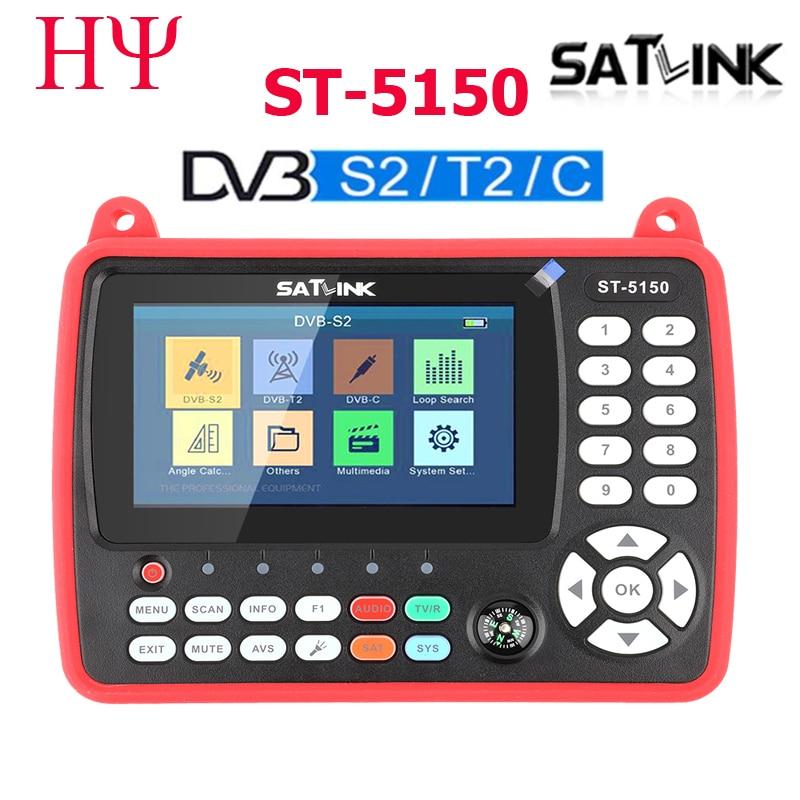 Satlink ST-5150 DVB-S2 DVB-T T2 DVB-C Combo Better Satlink 6980 Digital Satellite Meter Finder h 265 satlink ws-6933 kpt-716ts
