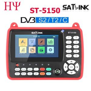 Image 1 - Satlink ST 5150 DVB S2 DVB T/T2 DVB C Combo Migliore Satlink 6980 Digital Satellite Meter Finder h.265 satlink ws 6933 kpt 716ts