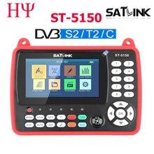Satlink ST 5150 DVB S2 DVB T/T2 DVB C Combo lepiej Satlink 6980 cyfrowy miernik satelitarny Finder h.265 satlink ws 6933 kpt 716ts