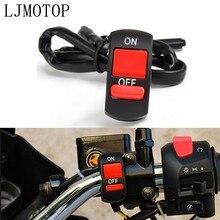 Interrupteur universel de guidon de moto, bouton marche/arrêt, pour Suzuki rm 85 125 250 rmx 250 rmz 250 450 drz 400 sm