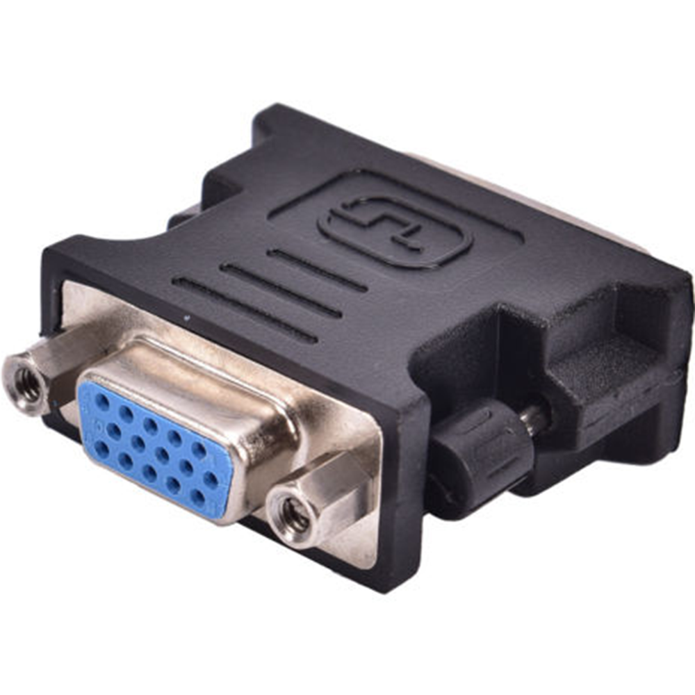 1080P HDMI Black DVI TO VGA Adaptor DVI-A / DVI-I SVGA HD15 Analog Monitor Adapter Converter TS Connector Plug