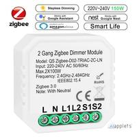 Regulador de luz inteligente Tuya Zigbee 3,0, módulo de Control remoto de 2 vías, relé, asistente de Google, Alexa y Echo