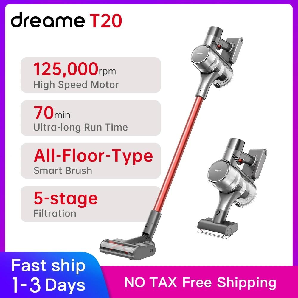 Dreame T20 ręczny bezprzewodowy odkurzacz inteligentna szczotka powierzchniowa wszystko w jednym odpylacz dywan na podłogę Aspirator 25kPa