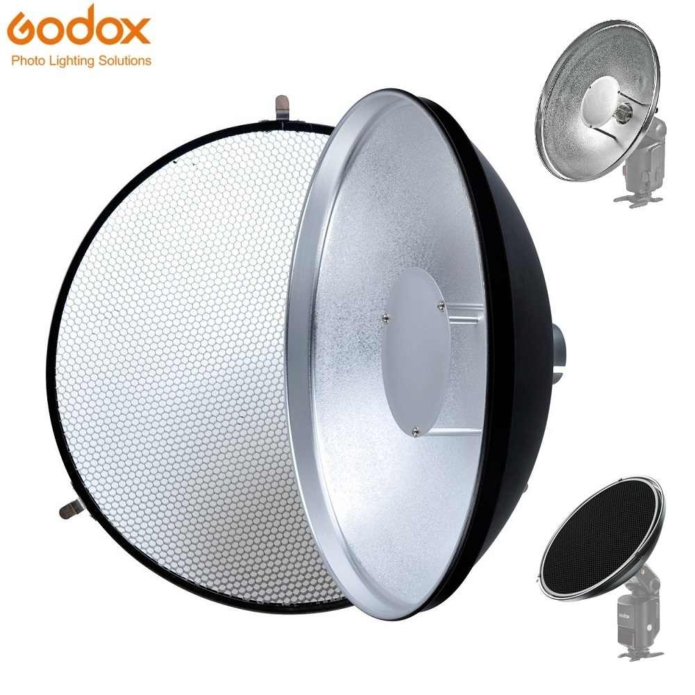 Godox beauté plat AD-S3 avec grille AD-S4 diffuseur Flash pour WITSTRO Speedlite Flash AD180 AD360 AD200 AD360II