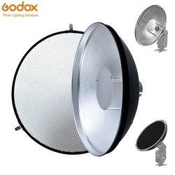 Godox Beauty Dish AD-S3 with Grid AD-S4 Flash Diffuser for WITSTRO Speedlite Flash AD180 AD360 AD200 AD360II