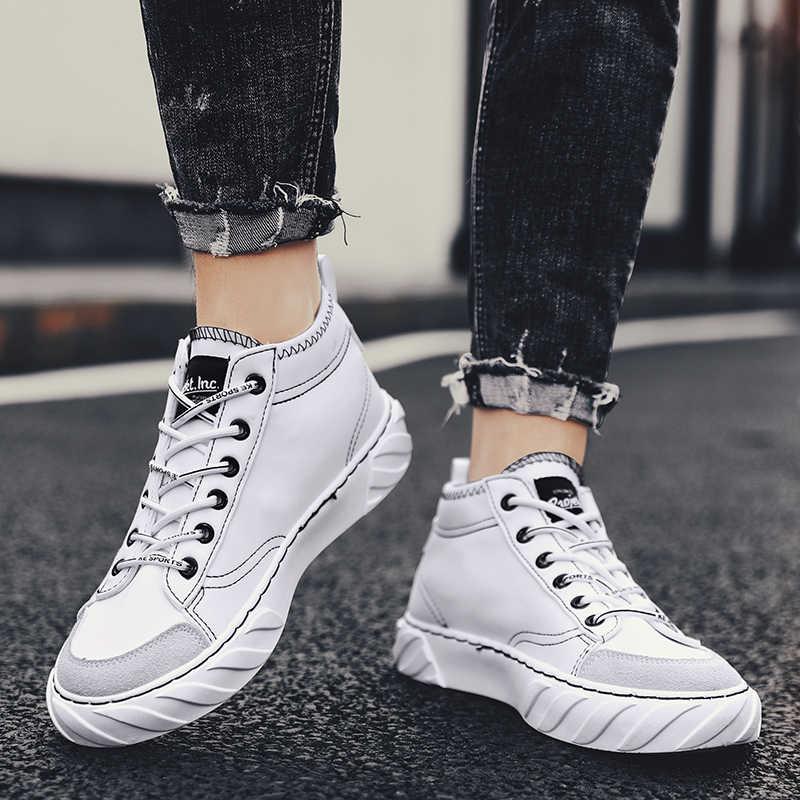 Buonoscarpe Trend Mannen Sport Schoenen Mesh Casual Lace-Up Loopschoenen Ademend slijtvaste Anti-stress Mode platte Schoenen