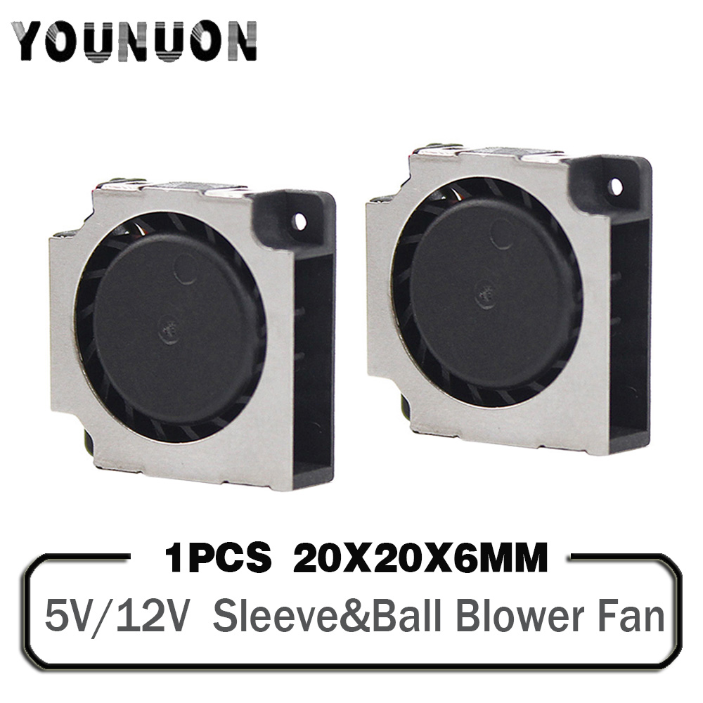 20mm Blower <font><b>Fan</b></font> <font><b>2cm</b></font> 2006 20x20x6mm DC 5V 12V Mini Blower Cooling Cooler <font><b>Fan</b></font> Handheld Projector Radiator <font><b>Fan</b></font> 2006 Heatisnk <font><b>Fan</b></font> image