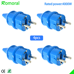 4000W 16A EU Waterproof IP54 Industrial Electrical Power French Rewireable Plug Male Socket Outlet Adaptor(China)