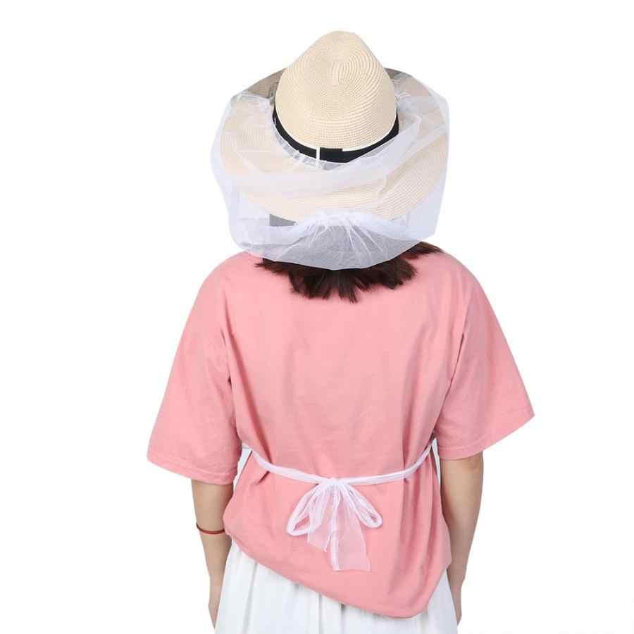 6 adet Arıcılık Şapka Arıcı Şapka Anti Nefes Arı Peçe Koruyucu Örgü Peçe Yüz Koruyucu Net Açık Arıcılık Aracı
