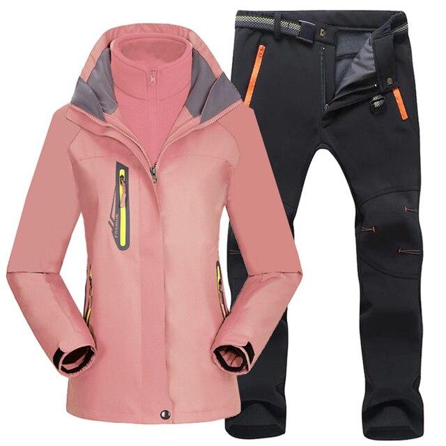 Женский походный тёплый костюм, для лыжных прогулок 5