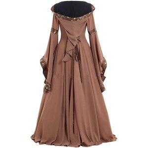 Image 3 - Средневековые маскарадные костюмы для женщин на Хэллоуин, карнавал, средний возраст, сценическое представление, готическое ретро платье Виктории, S 5XL