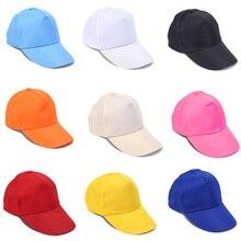 Men Baseball Caps Summer Unisex Solid Color Plain Curved Sun Visor Hip-Hop Cap Hat Women Adjustable Caps Protective Sun