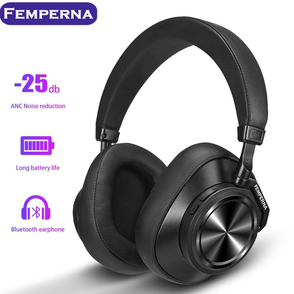 Femperna Bluetooth 5.0 casque sans fil pour téléphones et musique avec reconnaissance faciale écouteurs casque antibruit actif-in Écouteurs et casques from Electronique    1
