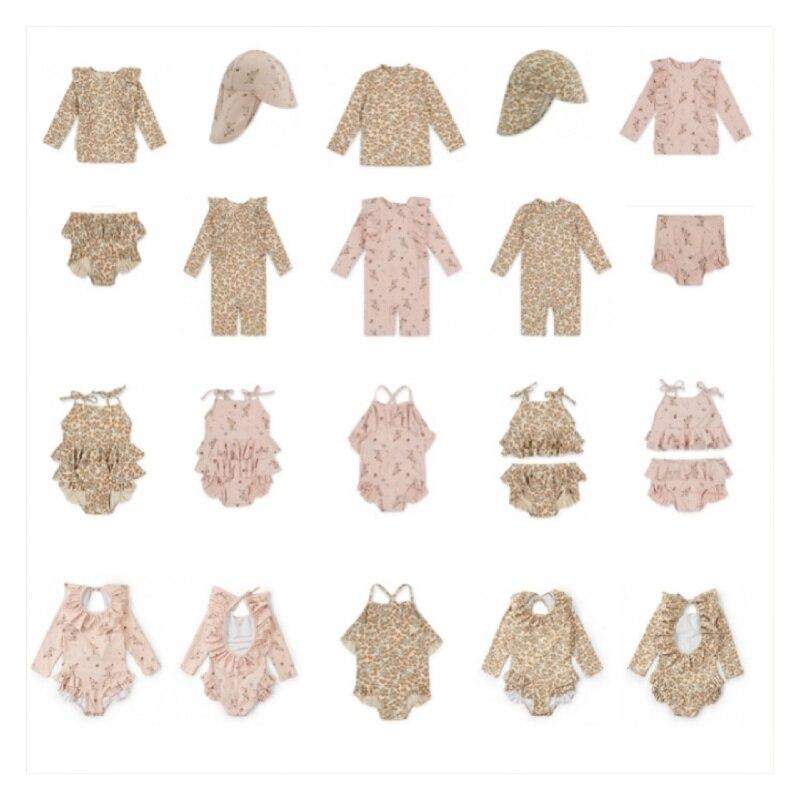 2021 Children's Swimsuit KS Flower Swimsuit Series Baby One-piece Swimsuit Girl Two-piece Swimsuit Boy Swimwear