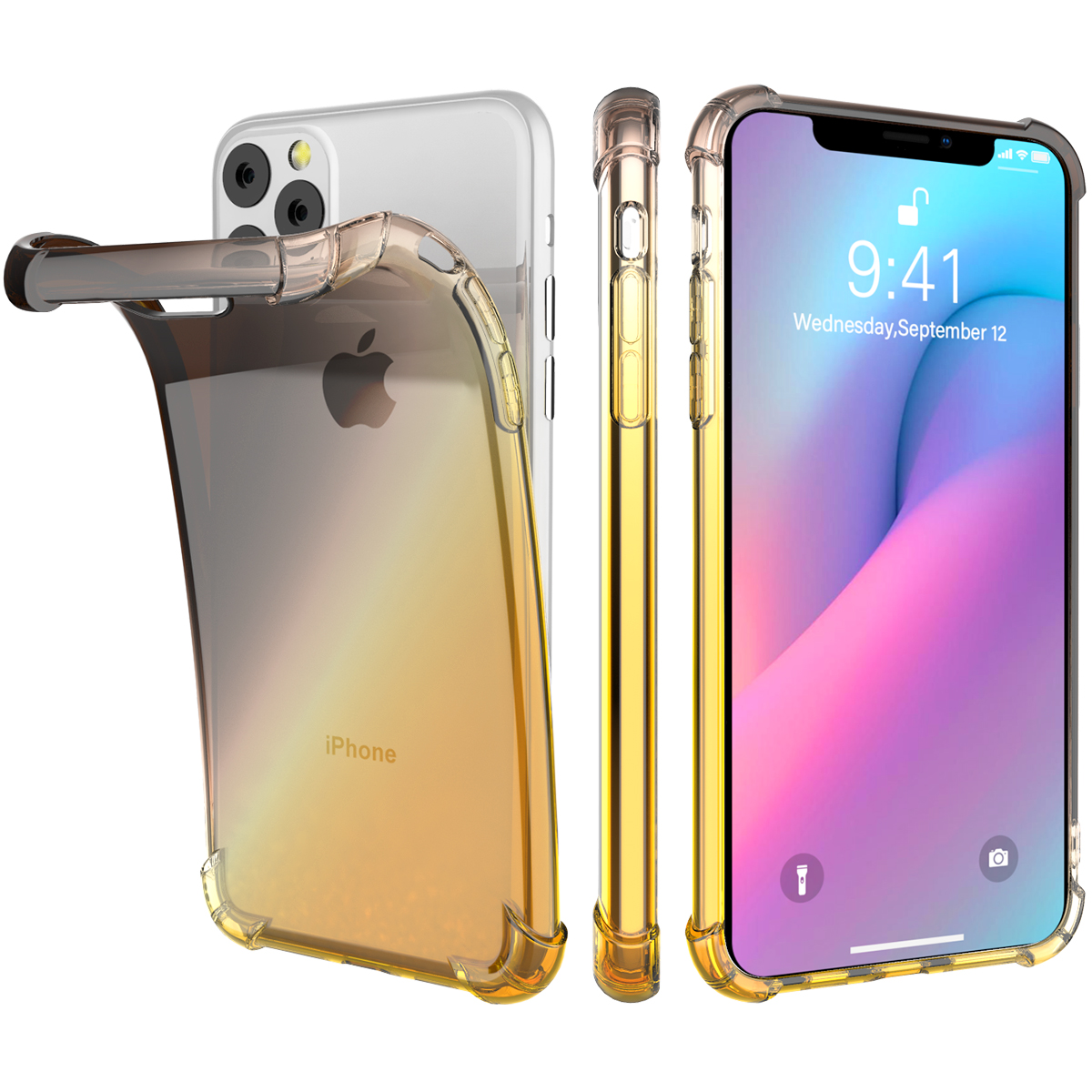 Gradient Soft TPU Case for iPhone 11/11 Pro/11 Pro Max 12