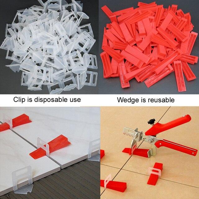 401 sztuk system poziomowania płytek 1mm 300 sztuk klipy + 100 sztuk kliny + 1 sztuka szczypce płytka z tworzywa sztucznego przekładki płytki narzędzia