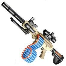 Bala macia nerf arma de tiro elétrico dardos dois modos menino brinquedos engraçado crianças jogo crianças presente aniversário