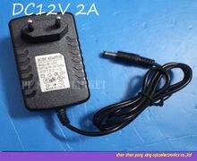 Dc12v 2a AC110-240V para dc adaptador de alimentação plugue da ue para 3528 5050 led strip
