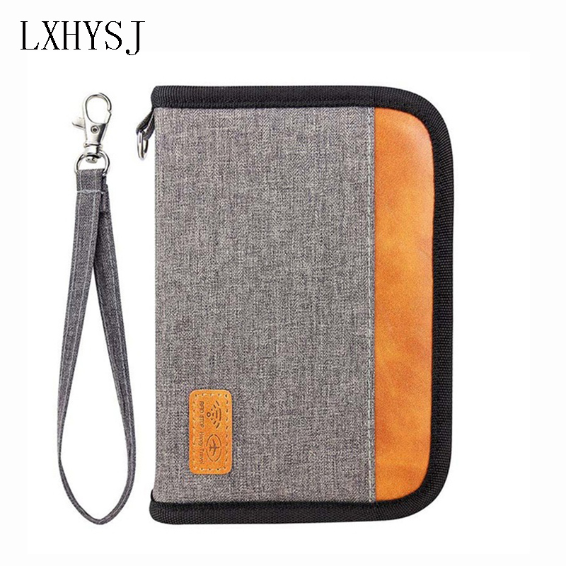 Travel Anti-RFID Passport Package Clutch Cardholder Wallet Credit Card Package ID Passport Clip File Multi-card Storage Bag New