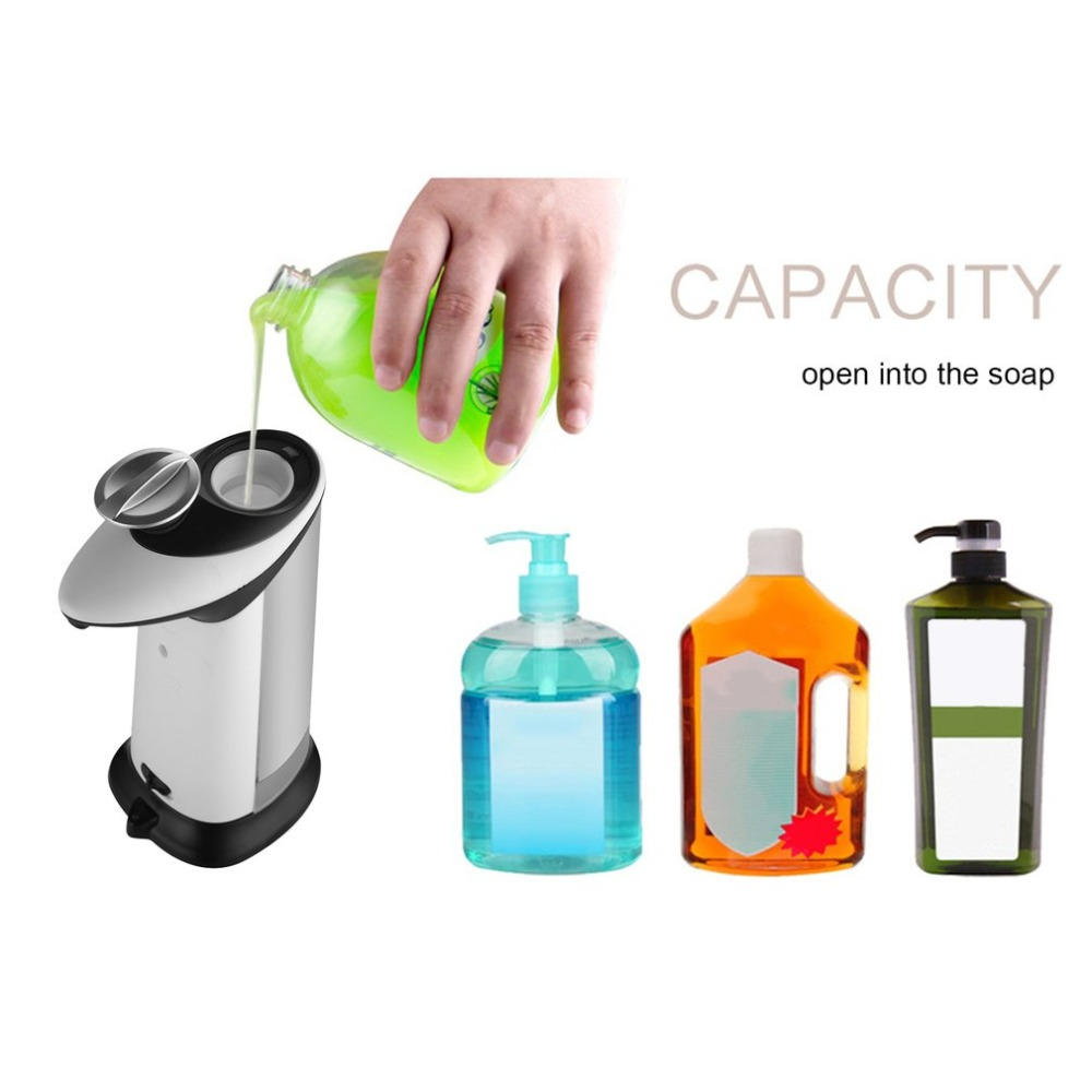 Auto Soap Dispenser ABS Plastic Hand Soap Leak-proof Dispenser Kitchen Bathroom Wall Mounted Shower Gel Soap Shampoo Dispenser