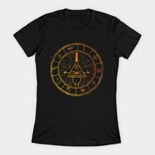 Женская футболка the bill cipher wheel