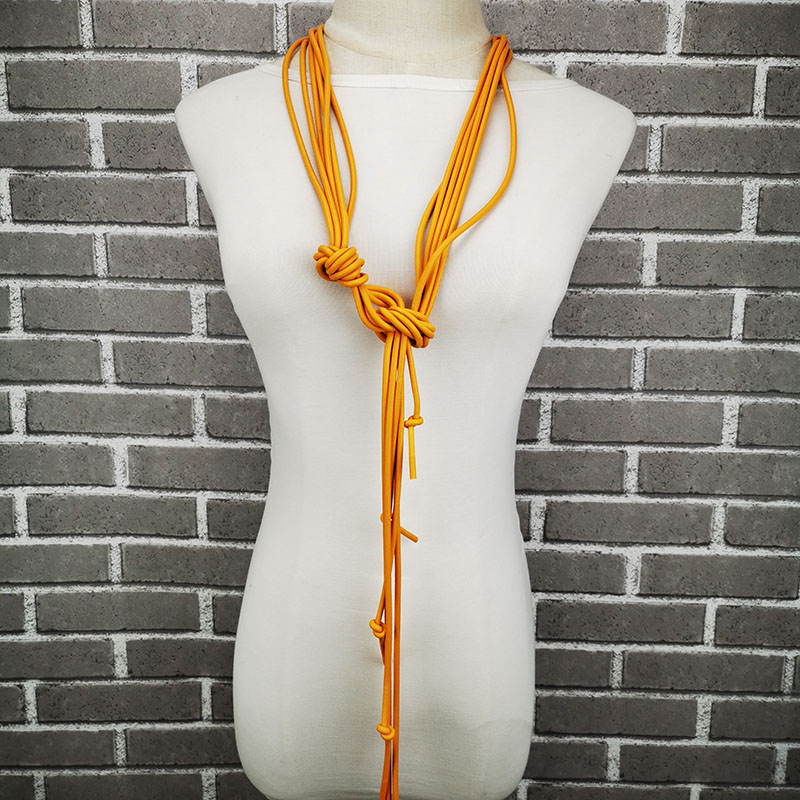 Женское длинное ожерелье UKEBAY, модный кулон в виде свитера, ювелирные изделия в стиле панк, ювелирные изделия из резины роскошного дизайна        АлиЭкспресс