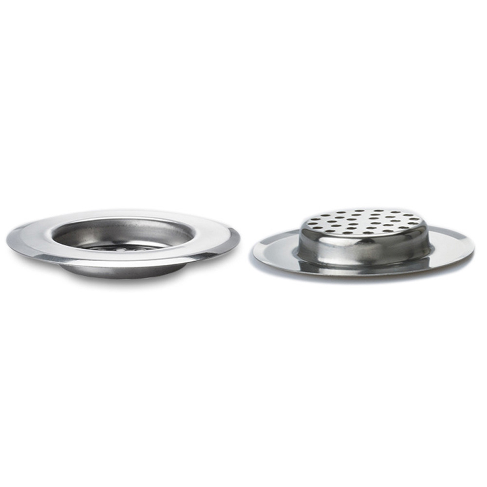 Kitchen Sink Strainer Stainless Steel Drain Filter With Large Wide Rim BJStore